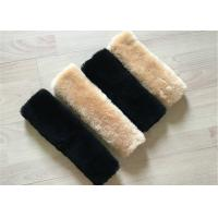 Best Australia Wool Luxury Sheepskin Seat Belt Cover Universal Type For Protecting Shoulders wholesale