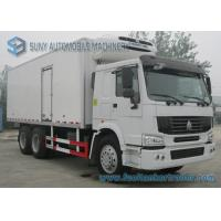 China 30 T Refrigerated Box Truck CNHTC Sinotruk HOWO 6x4 Heavy 336 HP on sale