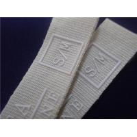 China White Printed Fabric Labels With Silicone Logo For Sports Clothing Patches on sale
