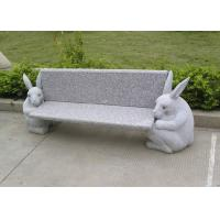 Best Outdoor Stone Garden Sculptures Garden Stone Bench With Animal Carving wholesale
