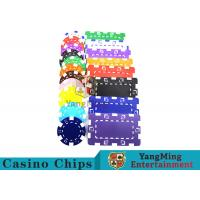 Best American Custom Made Casino Poker Chips With Dice 3.3mm Thickness wholesale