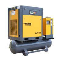 Best 7-20HP Electric Tank Mounted Combined Screw Air Compressor With Air Dryer wholesale