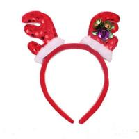 Cheap Fashion Antlers Headband Hat - Plush Rindeer Ears Costume Accessory For Party wholesale