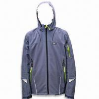 Best Men's Outdoor Coat, Made of 100% Polyester, Available in Dark Gray wholesale