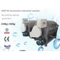 China Stainless Steel Horizontal Industrial Washer / High Capacity Washing Machine on sale
