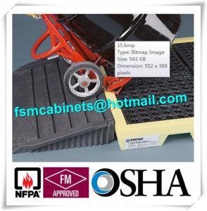 Best Polyethylene 4 Drum Spill Containment Pallet For Transship Chemical Barrels / Fuel wholesale