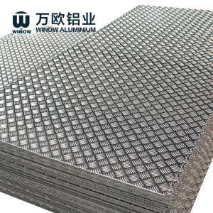 Best 1100 1050 1060 Aluminium Chequered Plate , Aluminum Alloy Checker Plate wholesale