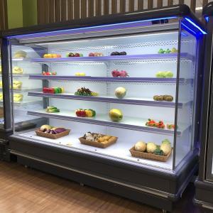 China 6.5ft Wide Compressor Outside Multideck Display Refrigerator With Blue LED Lighting on sale