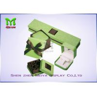 Best Luxury Beautiful Paper cardboard jewelry gift boxes With Silk Cover wholesale