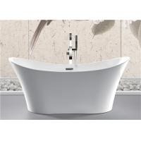 Best Back To Wall White Slipper Soaking Tub , 5 Ft Freestanding Soaking Tub Indoors wholesale