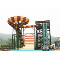 Best Outdoor Swimming Pool Boomerang Water Slide / Aqua Theme Park Fiberglass Slides wholesale