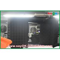 Best Black Big Quadrate Strong Oxford Cloth Photobooth , Large Inflatable Photo Booth wholesale