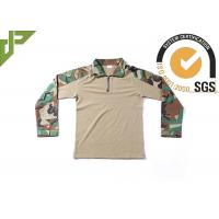 China Frog Woodland Digital Camo Combat Shirt With Adjustable Cuff Anti Decline Self Locking on sale
