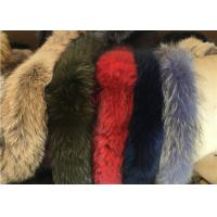 Best Raccoon Fur Collar Soft fluffy Smooth Natural Color Large Long Collar Detachable For Winter Jacket wholesale