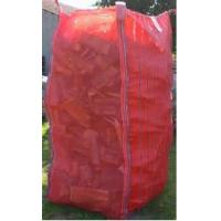 Best Tall Red Firewood Ventilated Mesh FIBC Bulk Bag With Corner Loops 2202 Lbs wholesale