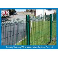 Best 200*55mm Green Pvc Coated Welded Wire Mesh Fence Panel Curved Wire Mesh Fence wholesale