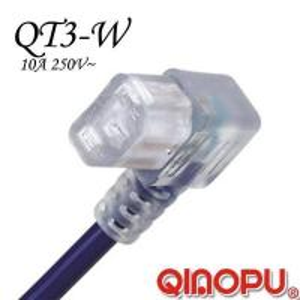 Best Iec 60320 C13-Right Angle Transparent Power Cord (QT3-W1) wholesale