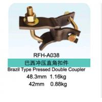 Best Brazil Type Scaffolding Coupler Pressed Punched Double Fixed Coupler wholesale