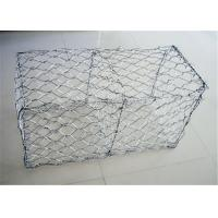 Best PVC Coated Gabion Wire Mesh Cages For Stone , Gabion Baskets Retaining Wall wholesale