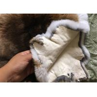 Best 30*40cm Smooth Dyed Rabbit Fur Pelts Warm Comfortable For Winter Garment wholesale