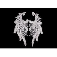 Buy cheap Polyester Angel Wings Lace Collar Applique For Fashion Show DIY Lace Patch from wholesalers