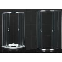 China Round Shape Bathroom Shower Room Tempered Acrylic Tray Glass Shower Enclosure on sale