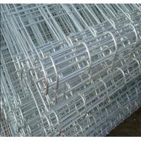 Details of galvanized ornamental double loop wire fence