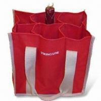 Best Wine Gift Bag with Webbing Handles and Cross Stitching, Suitable for Gift Purposes wholesale