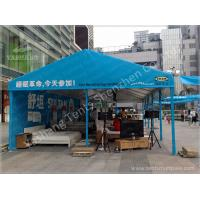 Quality Blue Tent Shade Structure Retail Trade / Exhibition Marquee Eco Friendly wholesale