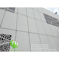 Buy cheap wall cladding metal aluminum panel powder coated outdoor aluminum solid panel from wholesalers