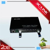 Best 8x SFP Slots + 1 X 10/100/1000 Fiber Media Converter for different 1000M SFP module wholesale