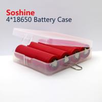 China Soshine 18650 plastic battery case 4*18650 battery case, high quality 18650 battery case on sale
