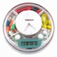 Best Pillbox Timer, 3 Compartments with Time and Alarm wholesale