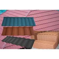 China Classic Type Shingle Colored Stone Coated Metal Roofing Tiles on sale