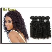 Best 10'' - 30 '' 5A Virgin Malaysian Hair Deep Wave No Fizzle Tight And Neat Reinforce Weft wholesale