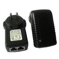 Best 48V 1A 48W 220V AC Poe Power Adapter RJ45 , Wall Mount Poe Power Supply wholesale