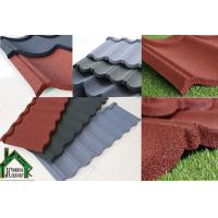 Best Building mateiral Stone Chip Coated Metal Roof Tiles 0.38mm - 0.50mm Thickness wholesale