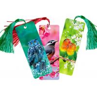 Cheap Custom 0.6 mm PET 3D Lenticular Bookmark With Two Sides CMYK Printing for sale