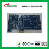 Best Blue Multilayer PCB Board 6l fr4 1.6MM LF HASL + GOLD FINGER wholesale