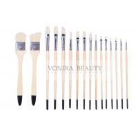 Best Artist Professional Body Paint Brushes Set With Carrying Case 16Pcs Watercolor Oil Acrylic Painting Brushes wholesale