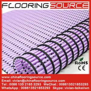 China PVC Tube Matting bathroom mat changing room mat non-slip drain water on sale