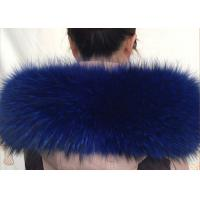 Best 100 *20cm Raccoon Navy Fur Collar , Extra Long Pile Furry Necks Collars  wholesale