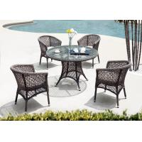 Cheap Mesh PE Rattan Dining Set Outdoor Indoor Swimming Poor Furniture Of P