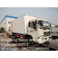 Quality dongfeng tianjin 4*2 Cummins 190hp refrigerated truck for sale, Euro 3 dongfeng tianjin 15ton fridge van truck for sale wholesale