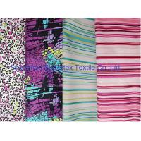Best Weft Cotton Poplin Elastic Stretch Fabric  Reactive Print  for Shirt and Dresses wholesale