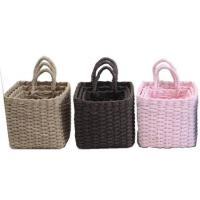 Best 100% handwoven S/3  home storage basket with paper rope material with handle, wholesale