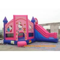 China Customized Outdoor Playground Inflatable Bouncy Castle , Inflatable Hello Kitty  Bouncer For Rent on sale