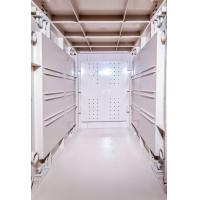 Best Token Operated Lockers 3 Comparts 1 Column , Red Storage Locker For Gym wholesale