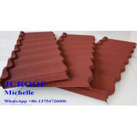 Best Colour Coated Steel Roofing Sheets , Alu-Zinc Steel Sheet  Villa Building Materials wholesale