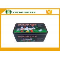 Best 4g Plastic Poker Chips Sets Professional Poker Set Square Tin Box Packaging wholesale